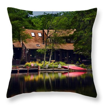 Medford Lakes I Throw Pillow