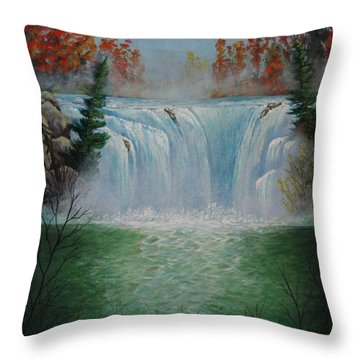 Mediation Falls Throw Pillow