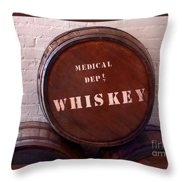 Medical Wiskey Barrel Throw Pillow