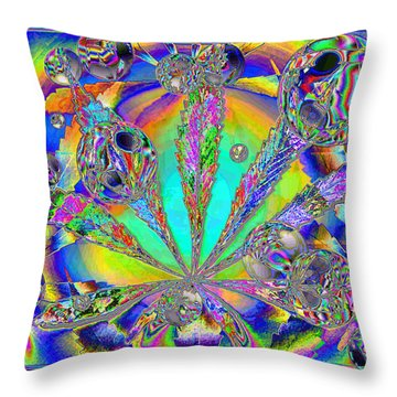 Medicinal One Throw Pillow by Joyce Dickens