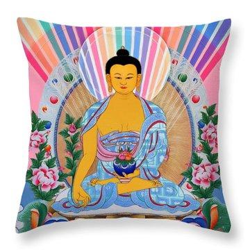 Medicine Buddha 1 Throw Pillow