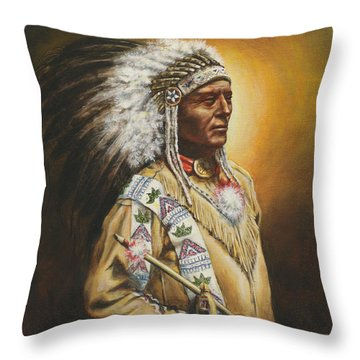 Medicine Chief Throw Pillow