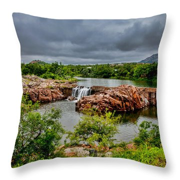 Medicine Park II Throw Pillow by Toni Hopper