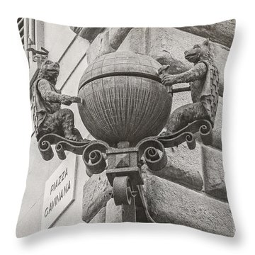 Medieval Alarm Throw Pillow