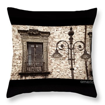 Medieval And Modern Throw Pillow