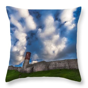Medieval Castle In Checiny In Poland Throw Pillow