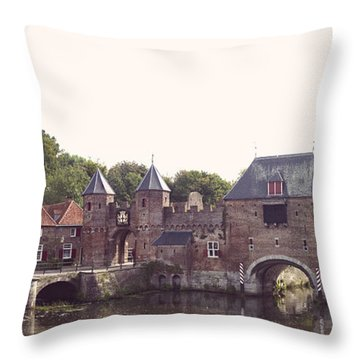 Medieval Gate Throw Pillow by Hans Engbers