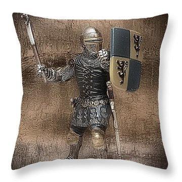 Throw Pillow featuring the photograph Medieval Knight by Aaron Berg
