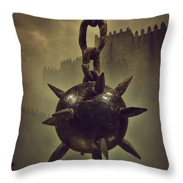 Medieval Spike Ball  Throw Pillow