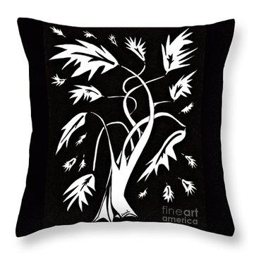 Medieval Tree Throw Pillow