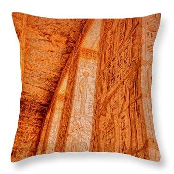 Throw Pillow featuring the photograph Medinet Habu Study 1 by Nigel Fletcher-Jones