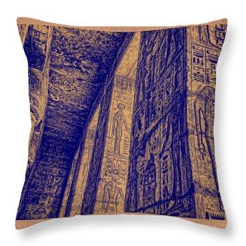 Throw Pillow featuring the photograph Medinet Habu Study 2 by Nigel Fletcher-Jones