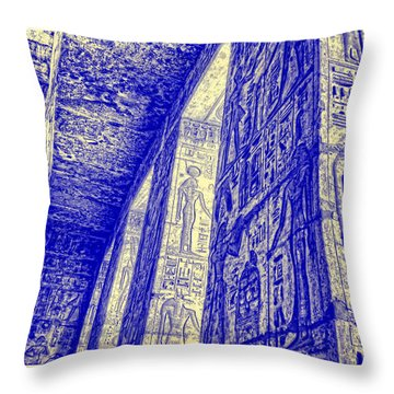 Medinet Habu Study 3 Throw Pillow