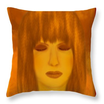 Meditating - Spiritual Painting By Giada Rossi  Throw Pillow