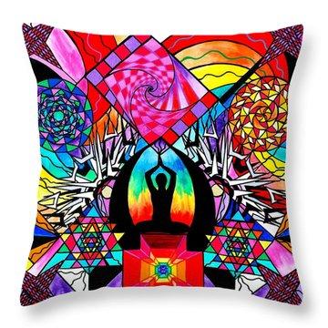 Meditation Aid Throw Pillow