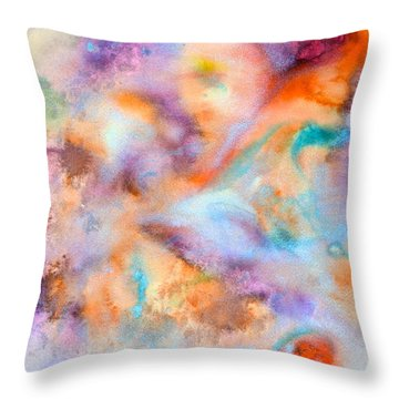 Throw Pillow featuring the painting Meditation by  Heidi Scott