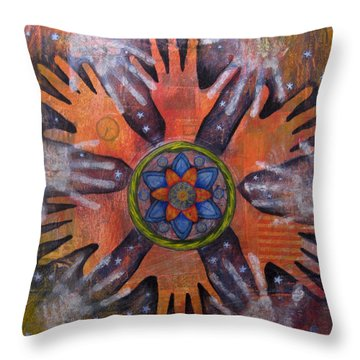 Meditation On Renewable Energy Throw Pillow