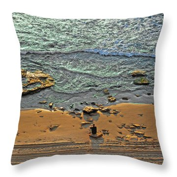 Throw Pillow featuring the photograph Meditation by Ron Shoshani