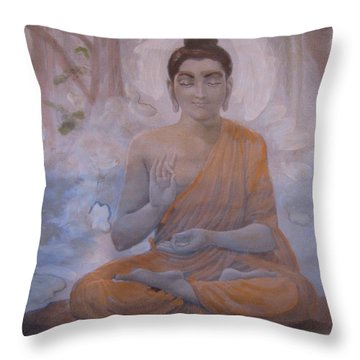 Meditational Peace Throw Pillow