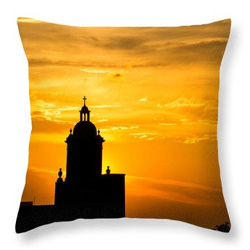 Meditative Sunset Throw Pillow