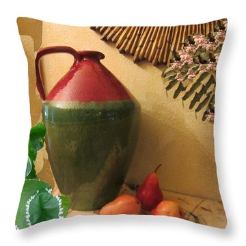 Mediterranean Juicy Snack Throw Pillow