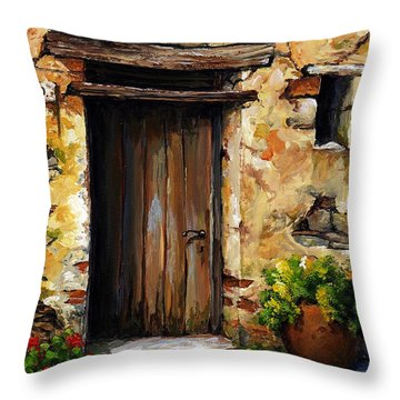 Mediterranean Portal Throw Pillow