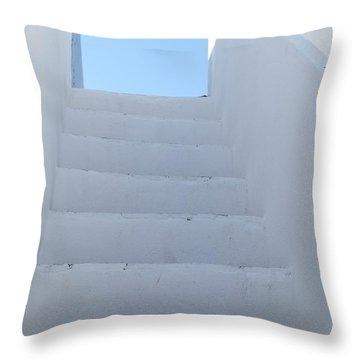 Mediterranean Staircase Throw Pillow