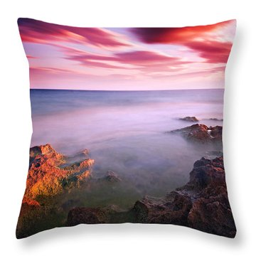 Mediterranean Sunset / Nabeul Throw Pillow