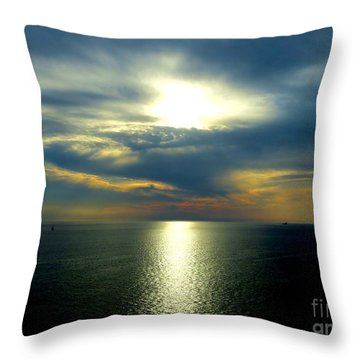 Mediterranean Sunset Throw Pillow