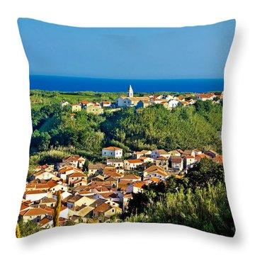 Mediterranean Town Of Susak Croatia Throw Pillow by Brch Photography