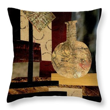 Mediterranean Vase Throw Pillow by Patricia Cleasby