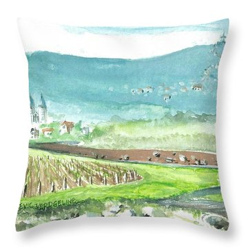 Medjugorje Fields Throw Pillow