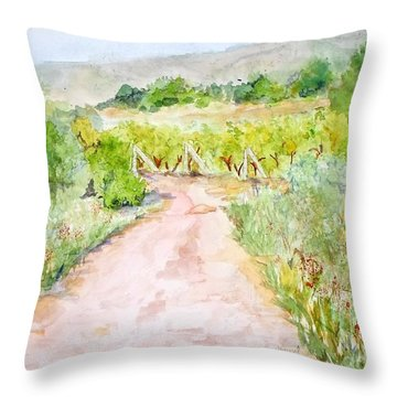 Medjugorje Path To Apparition Hill Throw Pillow