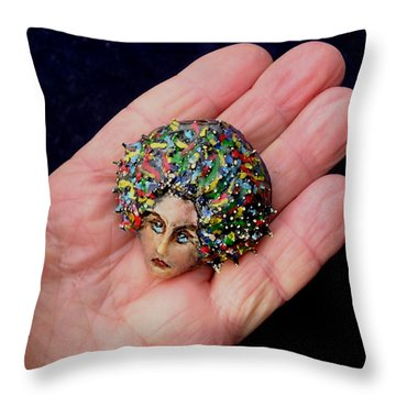 Medusa Cameo I Throw Pillow
