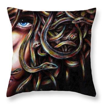 Medusa No. Two Throw Pillow