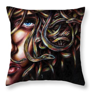 Medusa No. Two Throw Pillow