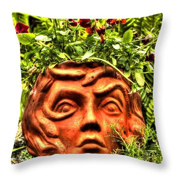 Throw Pillow featuring the photograph Medusa  by Tyson Kinnison