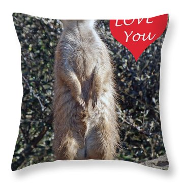 Meercat  Throw Pillow