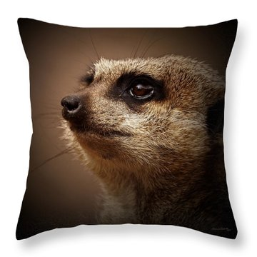Meerkat 6 Throw Pillow