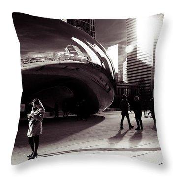 Meet Me At The Bean Throw Pillow