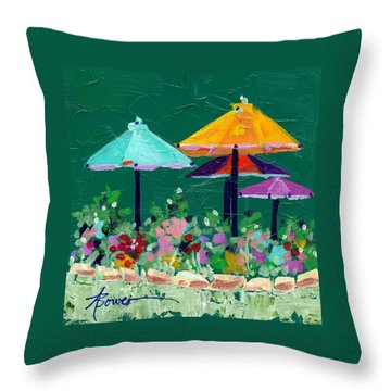 Meet Me At The Cafe Throw Pillow