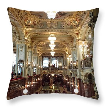 Meet Me For Coffee - New York Cafe - Budapest Throw Pillow