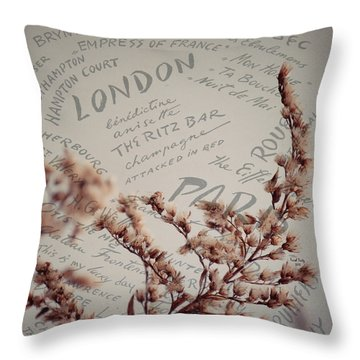 Meet Me In Paris Throw Pillow