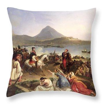 Meeting Between General Nicolas Joseph Maison 1771-1840 And Ibrahim Pasha 1789-1848 At Navarino Throw Pillow