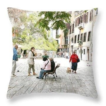 Meeting Place Throw Pillow