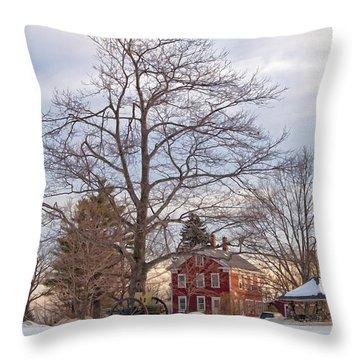 Meetinghouse Hill Throw Pillow