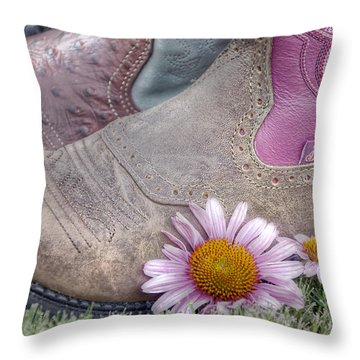 Megaboots Throw Pillow