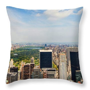 Megacity Throw Pillow