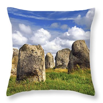 Megalithic Monuments In Brittany Throw Pillow by Elena Elisseeva