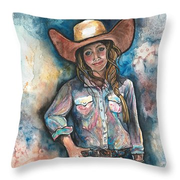 Little Britches Throw Pillow